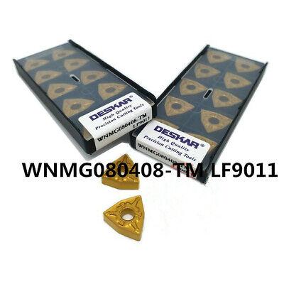 10Pcs DESKAR WNMG080412-TM LF9011 Carbide inserts For Steel Replace T9015 T9125