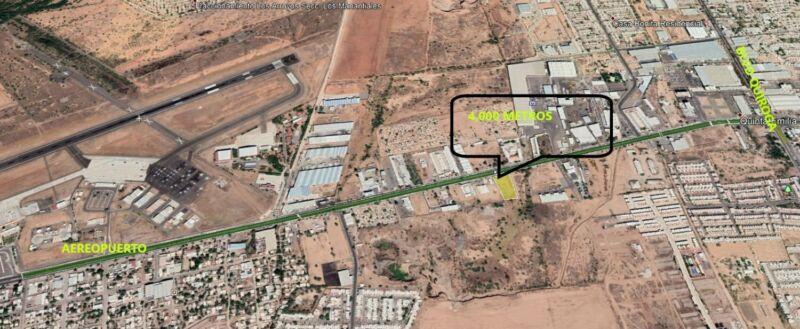 Renta Terreno 4000 m Hermosillo a 1 km de Aereopuerto Internacional