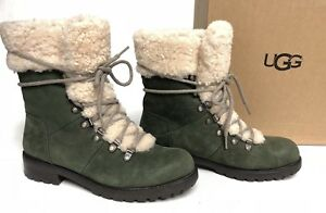 88777ce0c7b Details about UGG Australia FRASER WOMEN'S SHORT BOOTS RUGGED LEATHER Slate  1018896 Lace Up