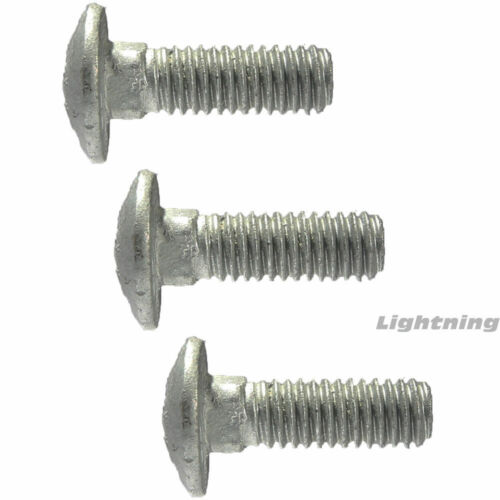 """1//4-20 x 3/"""" Carriage Bolts and Nuts Hot Dip Galvanized Quantity 100"""
