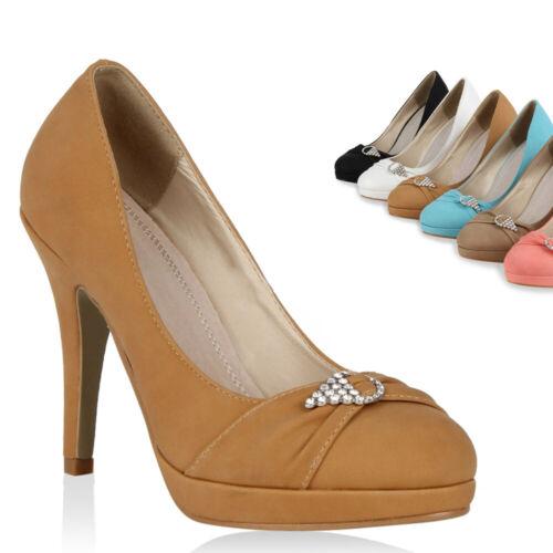 894945 Klassische Damen Pumps Elegant Strass High Heels Schuhe Trendy
