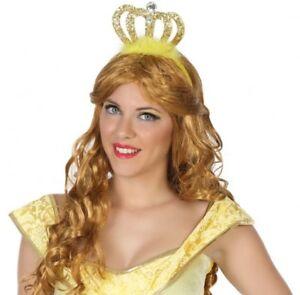 Corona-Amarillo-PRINCESA-Accesorio-Disfraz-Mujer-Nina-Traje