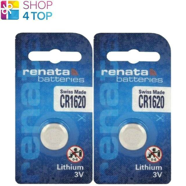 2 Renata CR1620 Lithium Batteries 3V Cell Coin Button Swiss Made Exp 2027 New