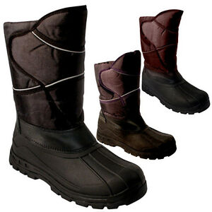 MENS-SNOW-BOOTS-WATERPROOF-MUCKER-THERMAL-WELLINGTONS-FUR-SKI-WINTER-BOYS-BLACK