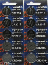 10 Renata CR2016 Lithium Battery 3V Button Cell for Digital Scales Calculators