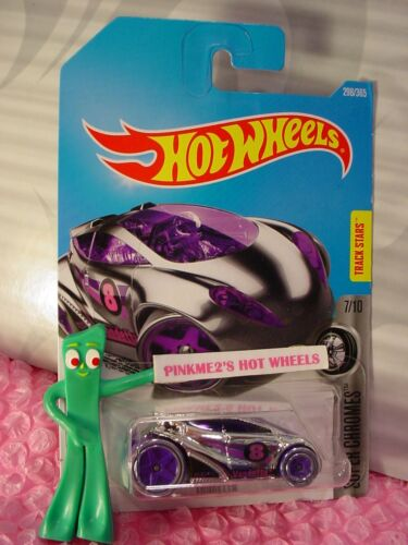 VANDETTA  #298✰chrome; 8; 5sp purple ✰SUPER CHROMES✰2017 i Hot Wheels case N//P