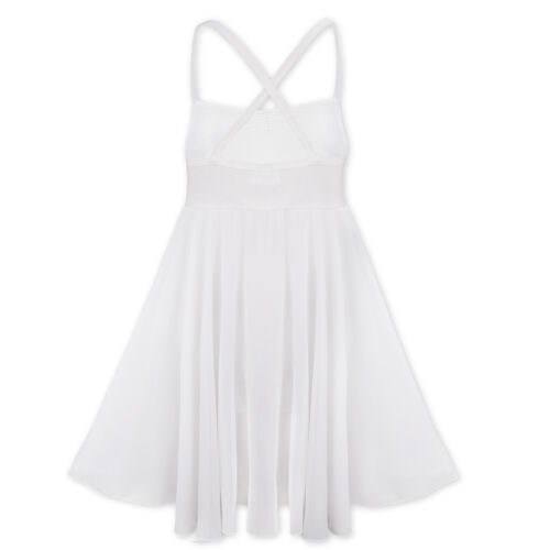 Chiffon Girls Kids Gymnastics Ballet Leotard Tutu Dress Toddler Dancewear XS-XXL