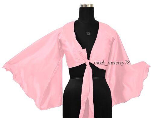 34 Color Satin Ruffle Wrap Top Tie Belly Dance Choli GYPSY haut | S37