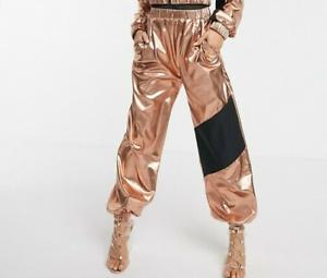 vinyl shiny  wet look joggers gay int  track pants  BNWT lady  pvc