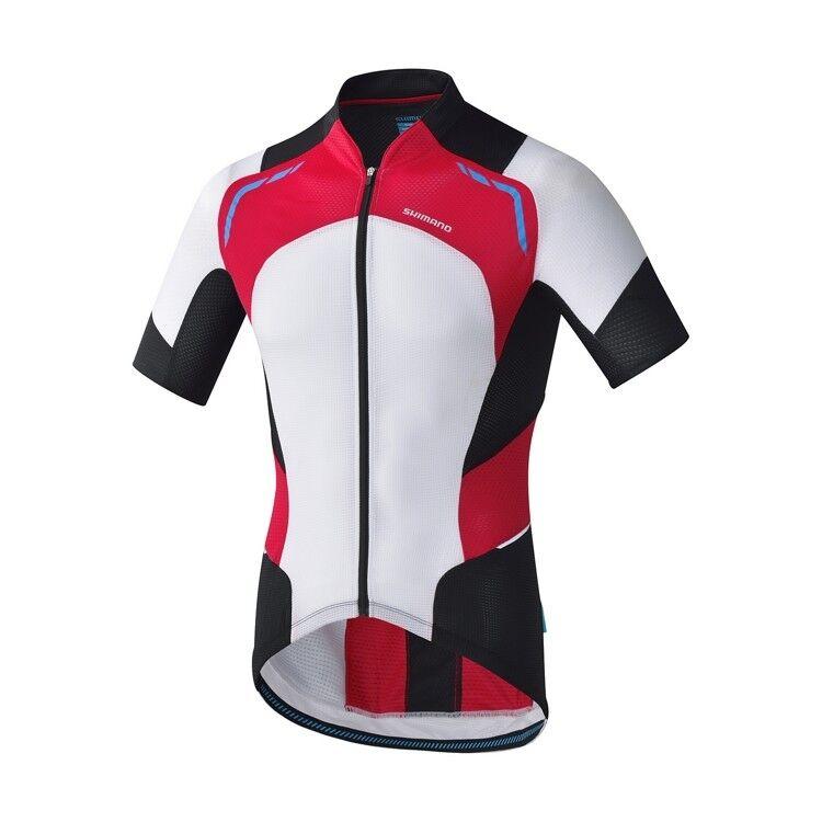 Shiuomoo, da uomo, caliente condizione Ciclismo Jersey, gree, uomoica corta, rossobianco