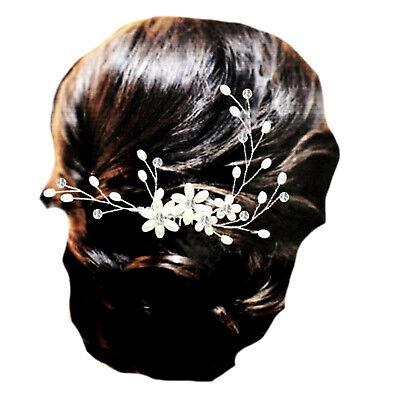 Energisch Brautschmuck Haarschmuck Haarkamm Blumen Perlen Ivory Elfenbein Kristall Klar SchöNe Lustre