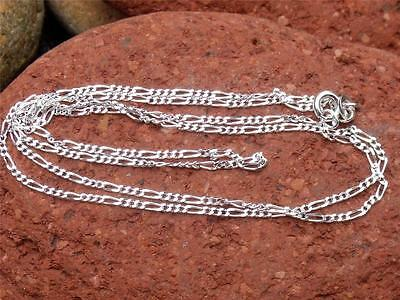 """925 SILVER 1MM FIGARO CHAIN/NECKLACE 24"""" INCHES HANDCRAFTED JEWELLERY"""