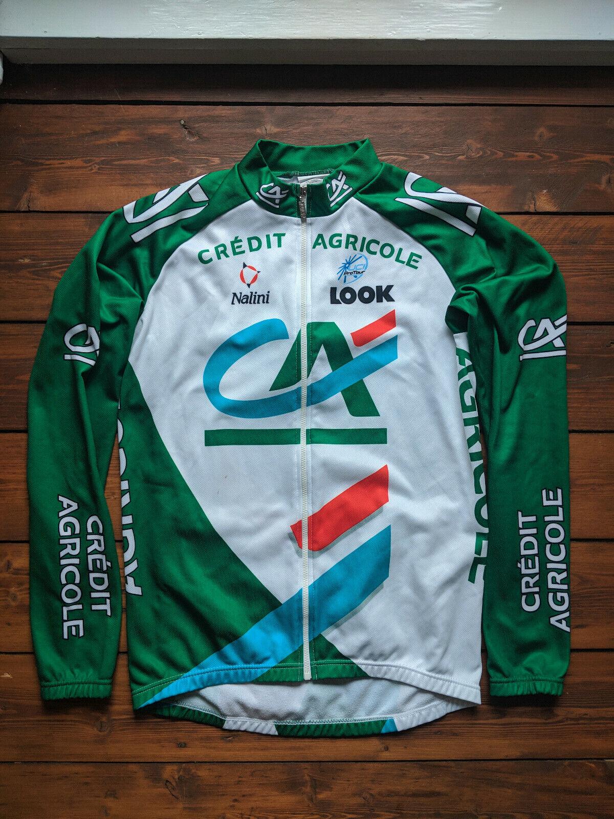 Original Nalini Credit Agricole 2005 Langarm Trikot Cycling Jersey Size 2 Long