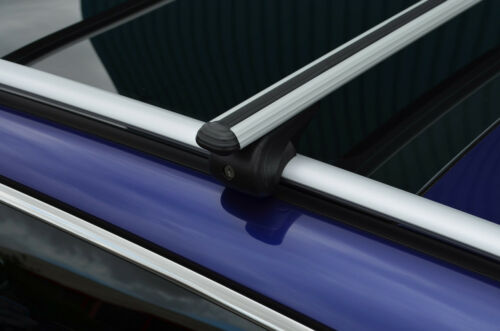 Cross Bars For Roof Rails To Fit Chevrolet Spark 100KG Lockable 2009-15