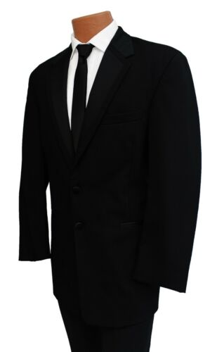 40S Perry Ellis Black Fashion Tuxedo Jacket /& Pant Suit for Prom Formal Wedding