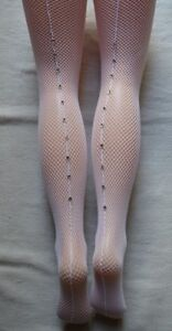 64f11053af7e1 Image is loading Leg-Avenue-White-Rhinestone-Seamed-Fishnet-Tights-9133-