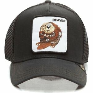 4542ffae3bcf6 Goorin Bros. Animal Farm Trucker Snapback Hat Cap Black Beaver | eBay
