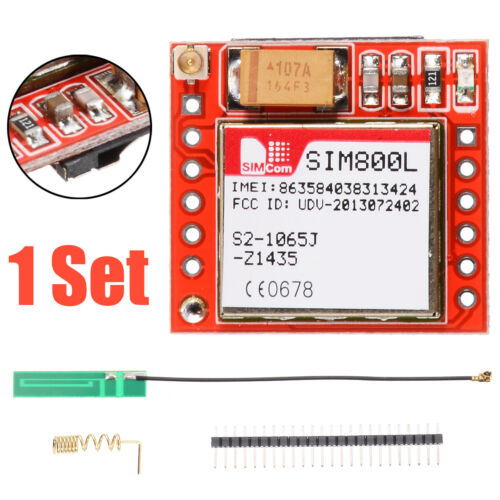 SIM800L GPRS GSM MODUL QUAD BAND Stabantenne /& Fruehlings-Antenne fuer Arduin XY