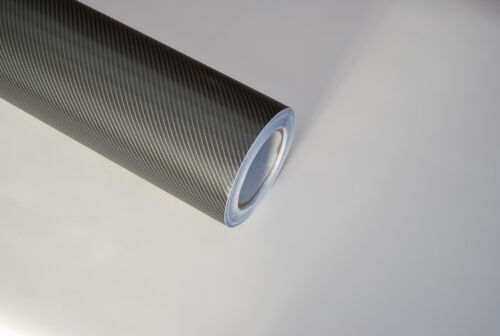 4D Enveloppe Vinyl Fibre Carbone Brillant pour Voiture Tout Air // sans Bulle
