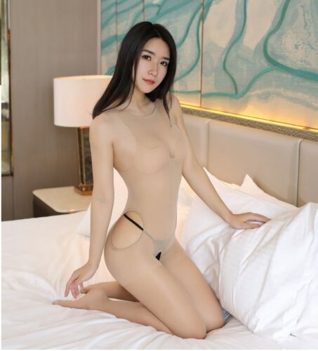 Halfter Hals Bodysuit Damen Body transparenter Tüll-Bodysuit ärmelloser Playsuit