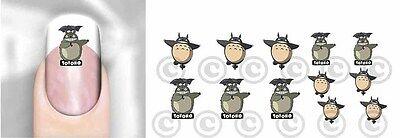 Totoro Japan Anime #03 Nail Art Decal Waterslide Transfer Peel Apply Adult Kid