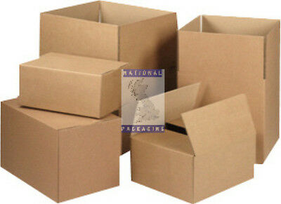 SMALL LARGE STRONG DOUBLE WALL CARDBOARD BOXES HOUSE MOVING REMOVAL- ALL SIZES