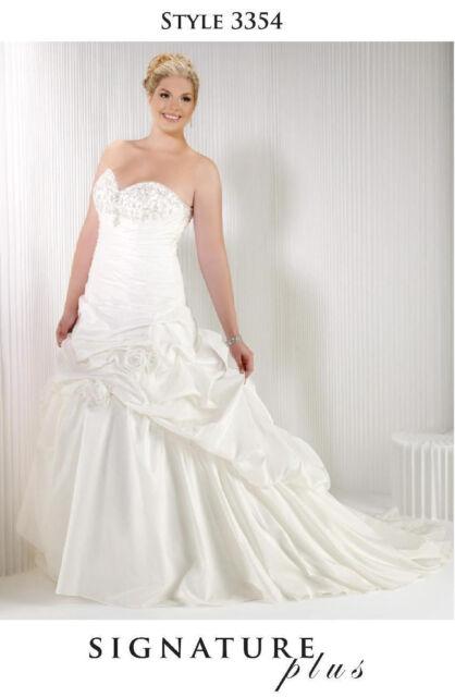 Plus Size White Ivory Lace Appliques Wedding Dress Ball Gown Bridal ...