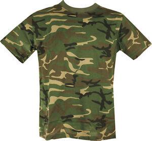 Military Army T Shirt US Woodland Camoflage DPM SAS NEW 100 ...