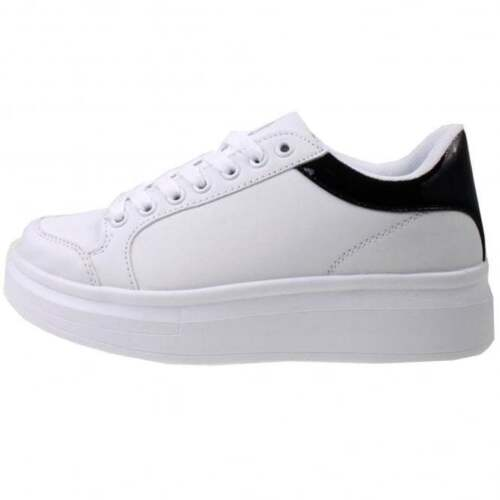 NEW LADIES WOMENS GIRLS WHITE COMFORT LIGHTWEIGHT TRAINERS WEDGE LACE UP