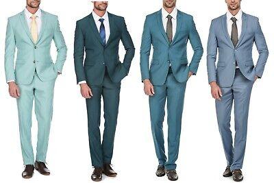 Porto Filo Royal Blue 2Pcs Slim Fit Suit (Coat+pant, 7 Colors)