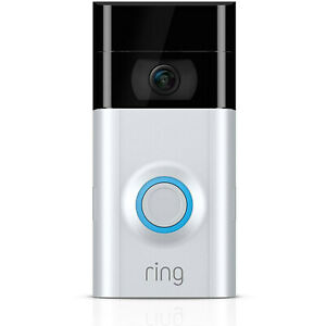 Ring 2 Wi-Fi Enabled Security Video Doorbell, Works with Alexa in Satin Nickel