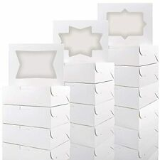 8x6x25 Cookie Gift Boxes White Bakery Treat Box With 3 Style Window For