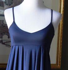 GAP Navy Blue Jersey Stretch Knit Empire Dress Silky Bodice XS
