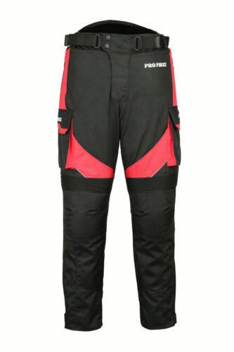 IMPERMEABILE MOTOCICLETTA MOTO TUTA CORDURA Giacca Pantaloni Guanti Stivali Rosso Set
