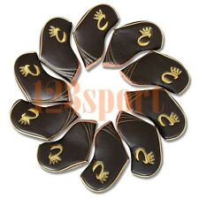 Set Of 10pcs 3#-sw Brown Golf Club Headcovers Craftsman Covers fit RH/LH Irons