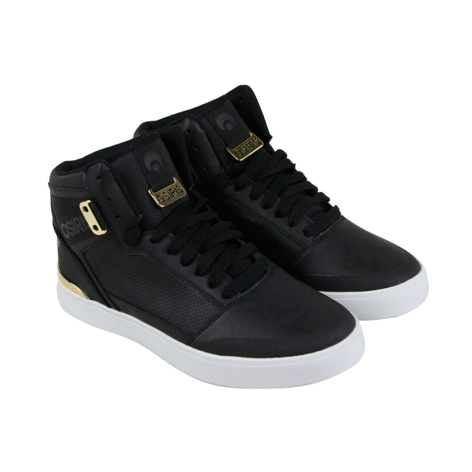 Osiris Cultur Homme Noir Leather Sneakers Lace Up Skate Chaussures