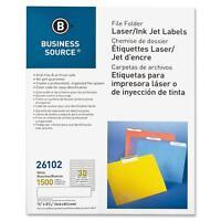 Business Source File Folder Labels Laser/inkjet 2/3x3-7/16 1500/pk White 26102 on sale