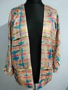 H-amp-M-Fashion-Against-AIDS-Women-039-s-Size-10-Reversible-Jacket-Kimono-Style-Digital