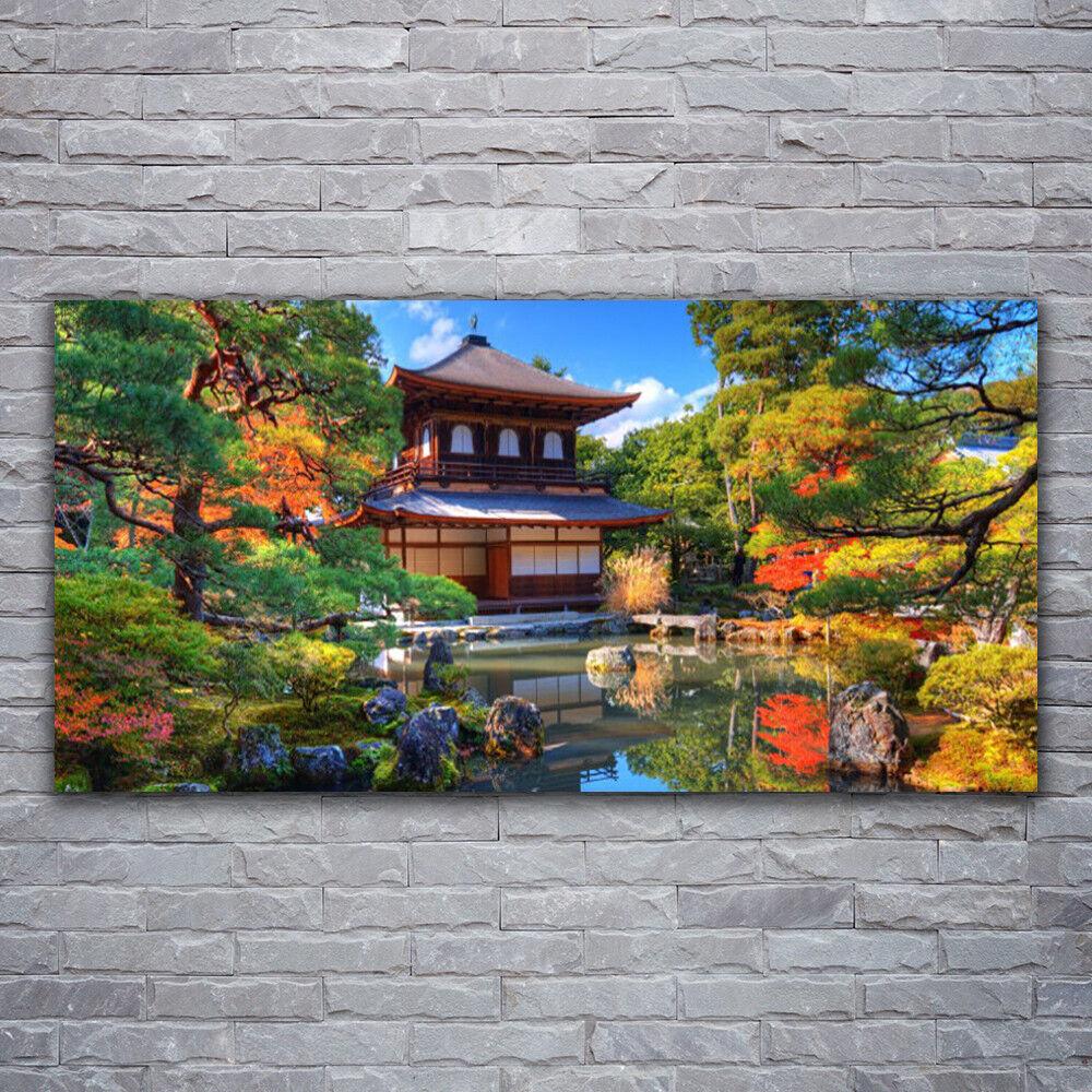 Photo sur toile Tableau Image Impression 120x60 Paysage Maisons Jardin
