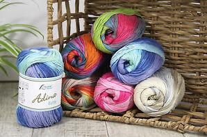100 gr ADINA BATIK  von Rellana 100 % Baumwolle mit schönem Farbverlauf