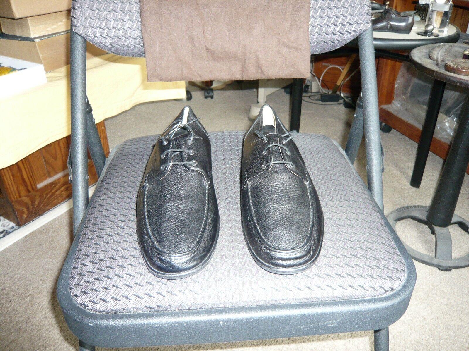 A Testoni italien noir souple Veau Chaussures en cuir, taille IT 7.5 m, US 8.5 & B