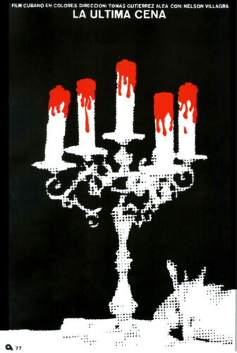 4624.Decoration Poster.Room design.La ultima cena.blood covered candles.Home