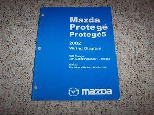 2002 mazda protege 5 protege5 factory original electrical wiring diagram manual