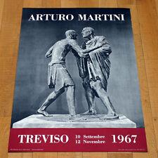 ARTURO MARTINI poster manifesto affiche Arte Scultura Sculpture Art Treviso
