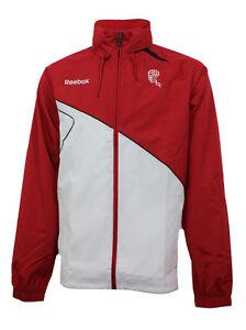 Reebok-Bolton-Wanderers-FC-Rain-Jacket-Sizes-L-XL-Red-White-RRP-50-BNWT