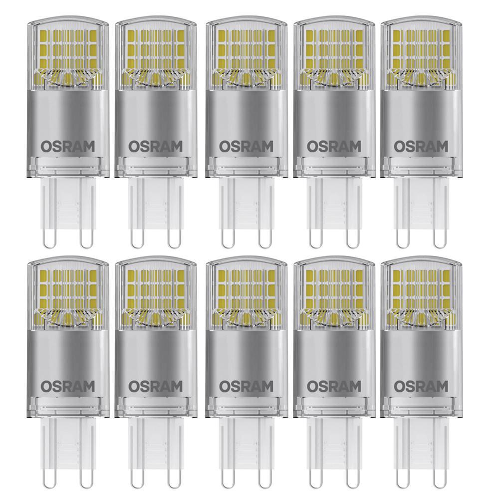 X 10 Osram Ledvance 3,5w = 155 Regulable LED G9 Cápsula Extra blancoo Cálido