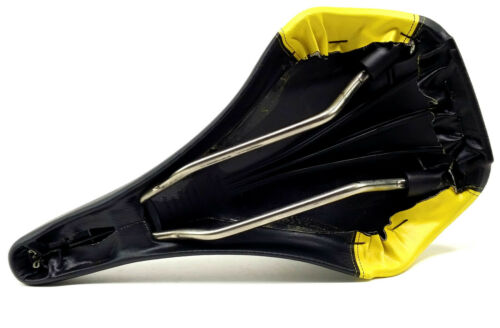 Selle Italia Vario Comfort Mountain Bike//Road Bicycle Saddle Black//Yellow