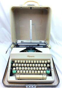 Working Vtg Olympia De Luxe SM8 SM9 Portable Typewriter Case 1966 Turquoise Std