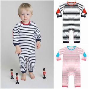c28a3cef7aff Baby Boy Girl Newborn Toddler Striped Romper Bodysuit Jumpsuit ...