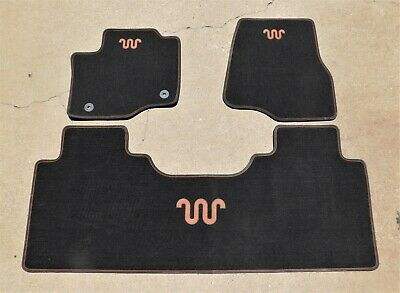 NEW OEM 15-20 Ford F150 Crew Cab Carpet Floor Mat Set King Ranch LOGO Espresso